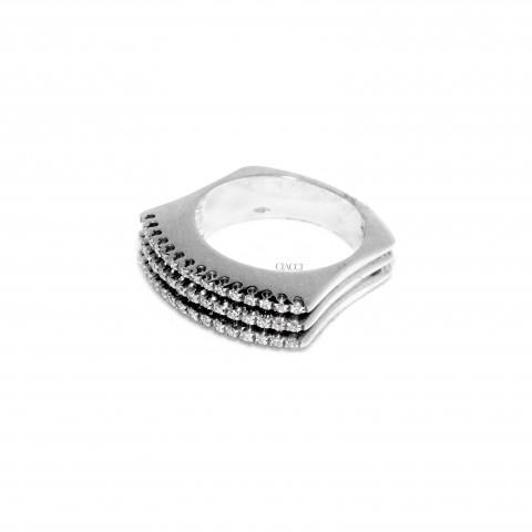 G2268-AA738 Anello Oro Bianco Brillanti