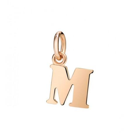 Lettera M oro rosa