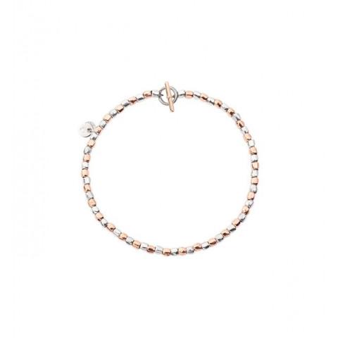 bracciale mini granelli oro rosa argento